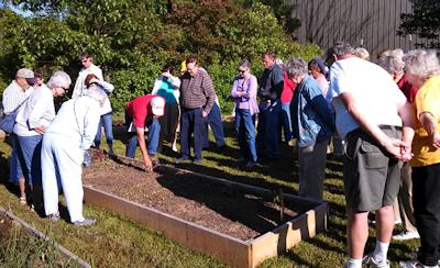 Master Gardeners at Demonstration Garden at the Ag Center